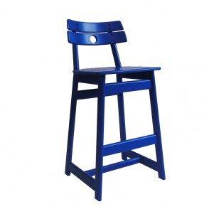 690-30 Cadeira Alta Tajá - Laca Azul